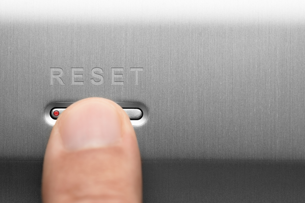 Press the reset button
